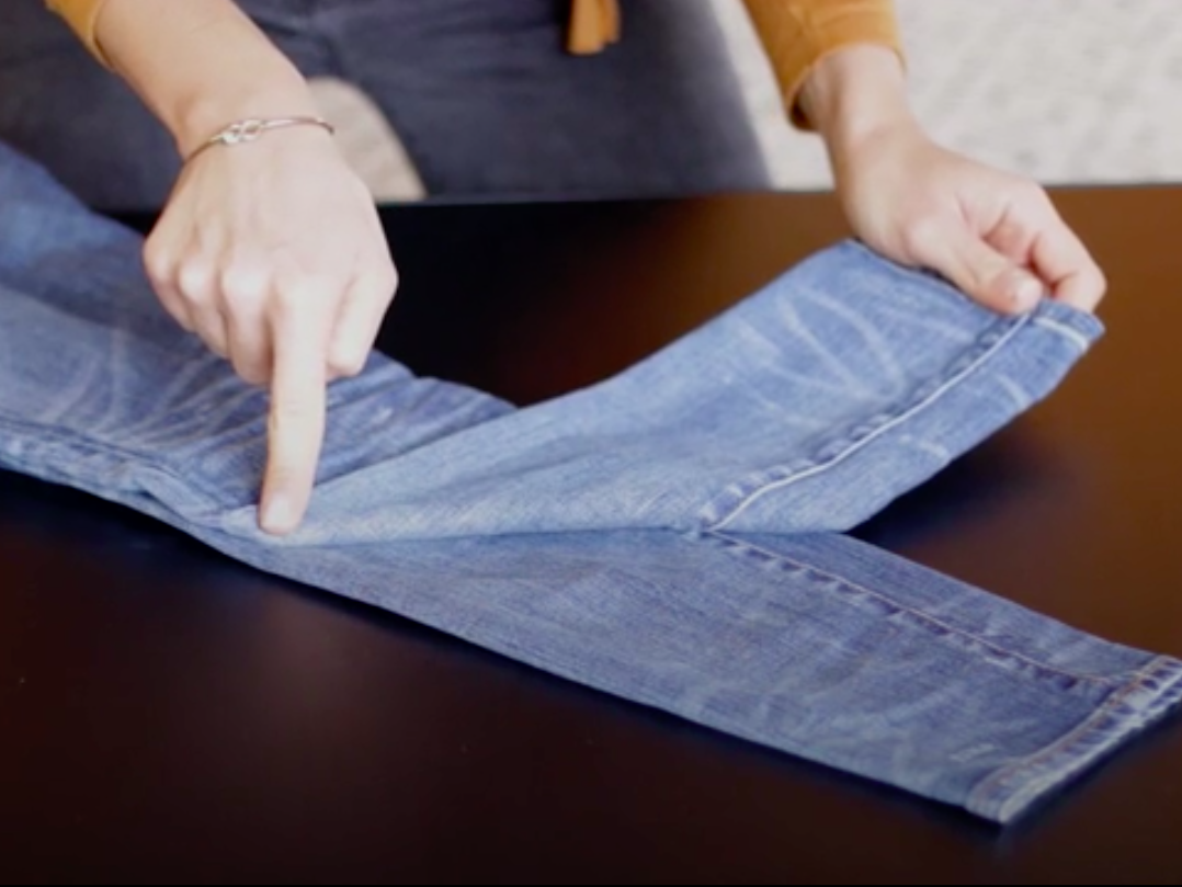 Folding Jeans to Save Space