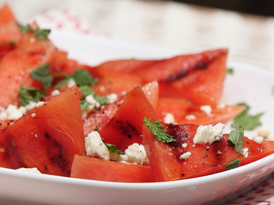 Health How to Make a Grilled Watermelon, Mint, and Feta Salad