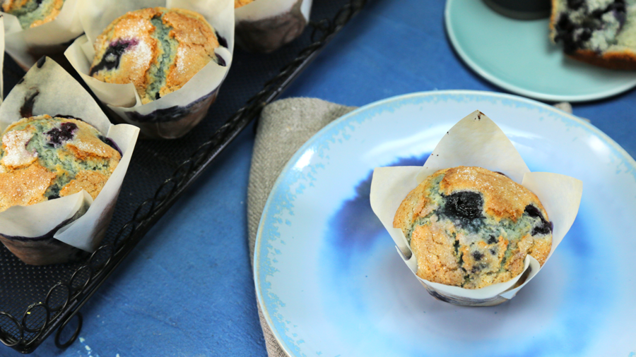 Bakeshop Blueberry Muffins