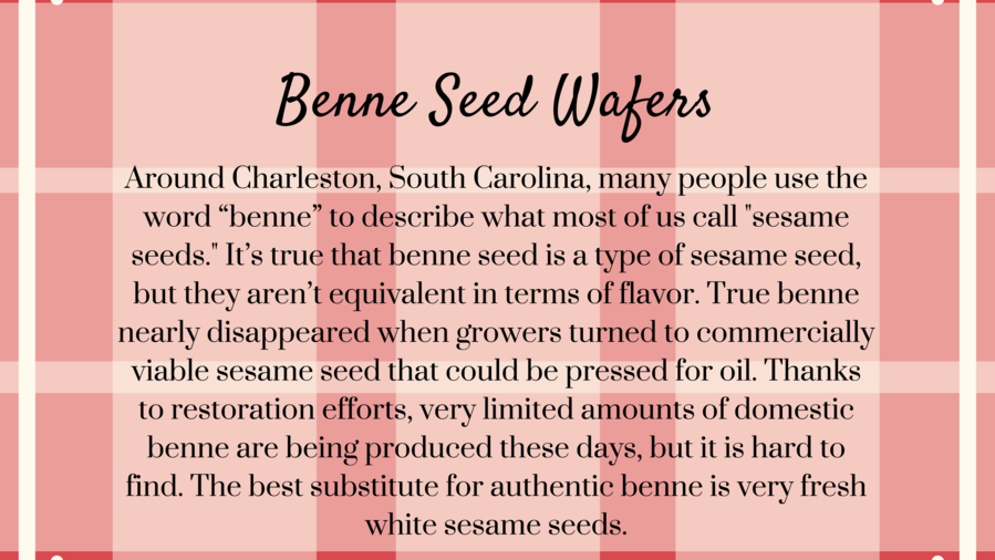 Benne Seed Wafers Southern Recipe Secret