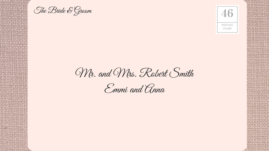 how to address wedding invitations return address