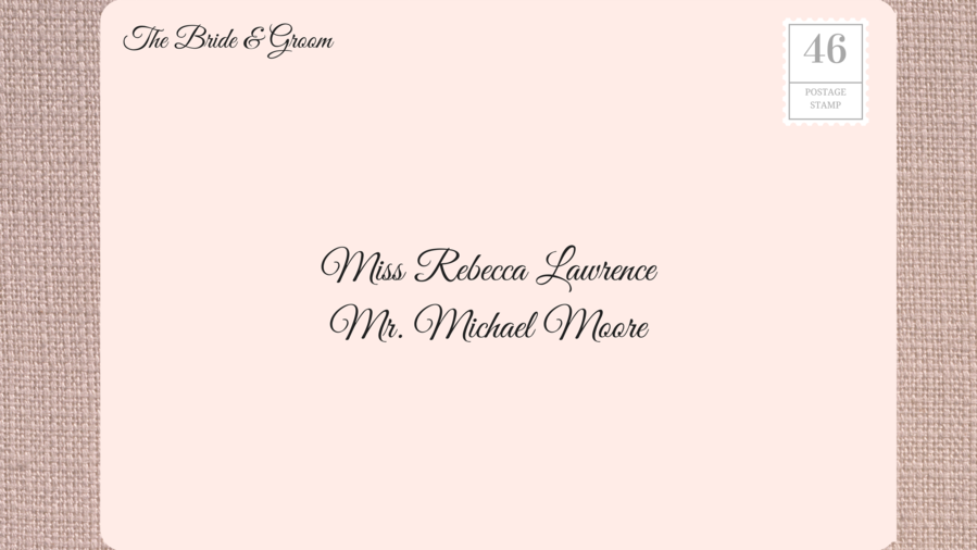 Addressing Wedding Invitations to Friend with Known Guest