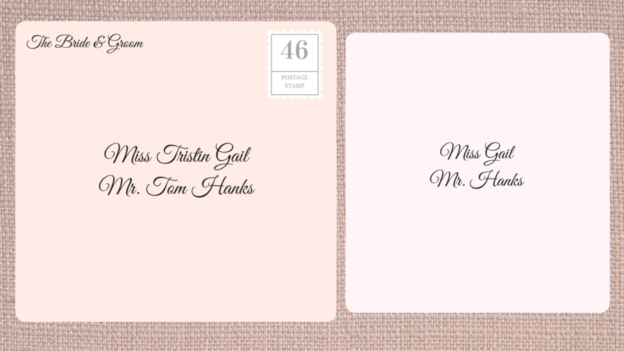 Superb Addressing Double Envelope Wedding Invitations To Friend With Known Guest