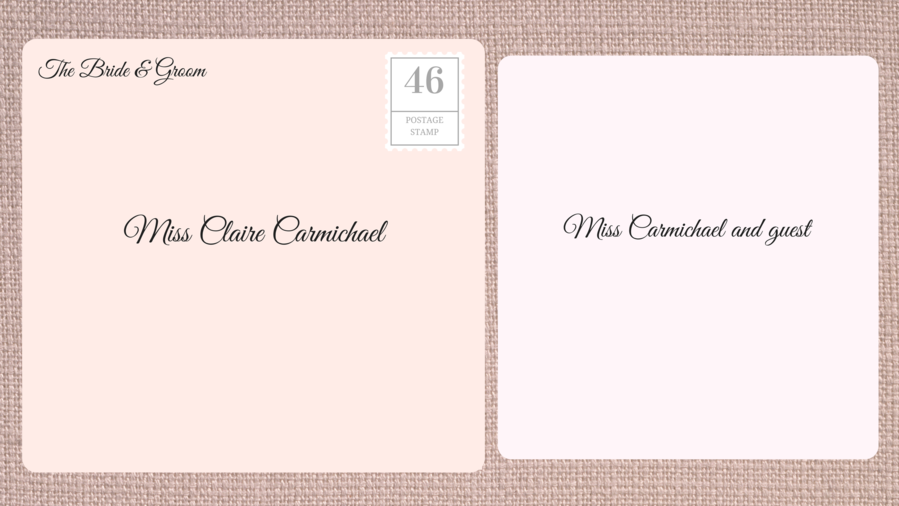 Addressing Double Envelope Wedding Invitations to Friend with Unknown Guest