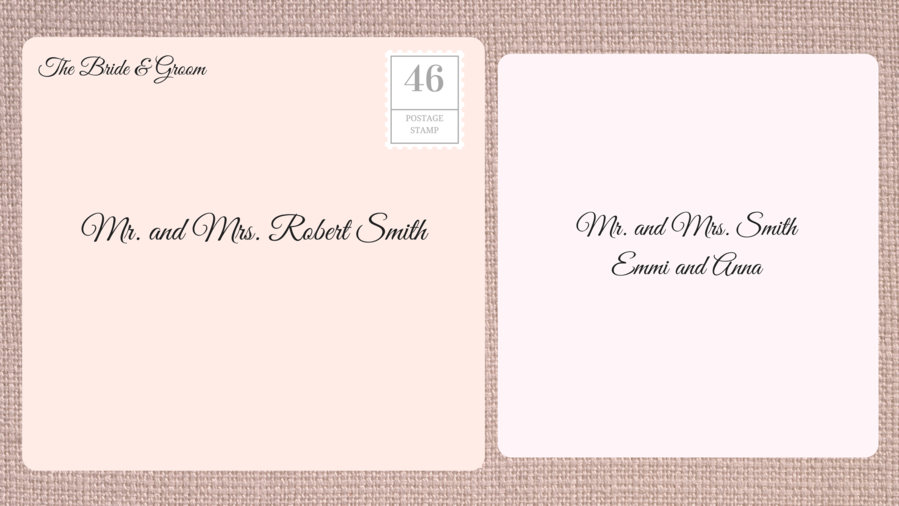 Addressing Double Envelope Wedding Invitations to Family with Young Children