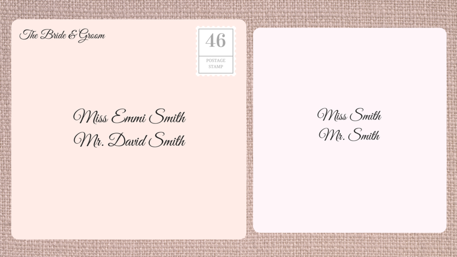 How to address wedding invitations southern living addressing double envelope wedding invitations to family with adult children thecheapjerseys Gallery