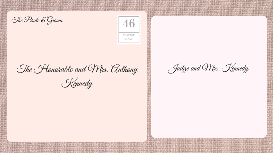 Addressin Double Envelope Wedding Invitations to Judge