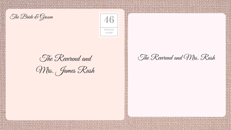 Addressing Double Envelope Wedding Invitations to Clergy