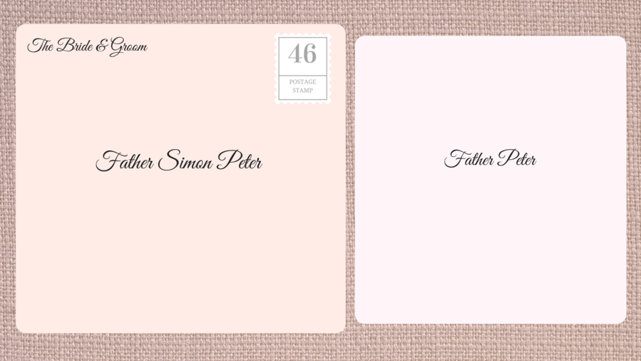 Addressing Double Envelope Wedding Invitations to Priest