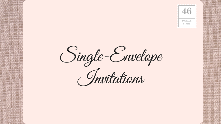Singe Envelope Wedding Invitations