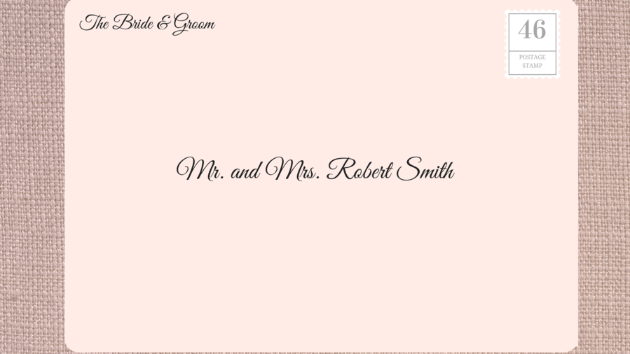 Addressing Wedding Invitations To Married S