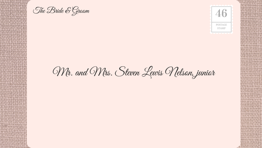 How to address wedding invitations southern living addressing wedding invitations to juniors stopboris Gallery