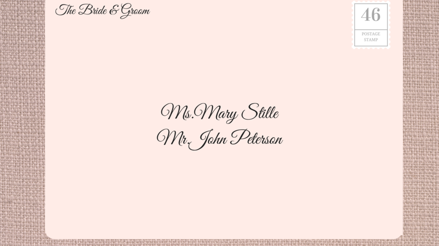 Adressing Wedding Invitations to Unmarried Couple