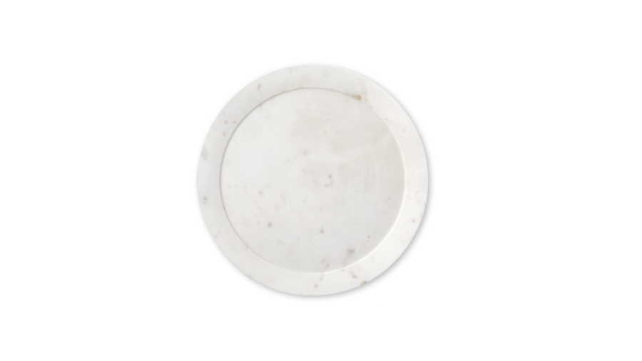 White Marble Charger