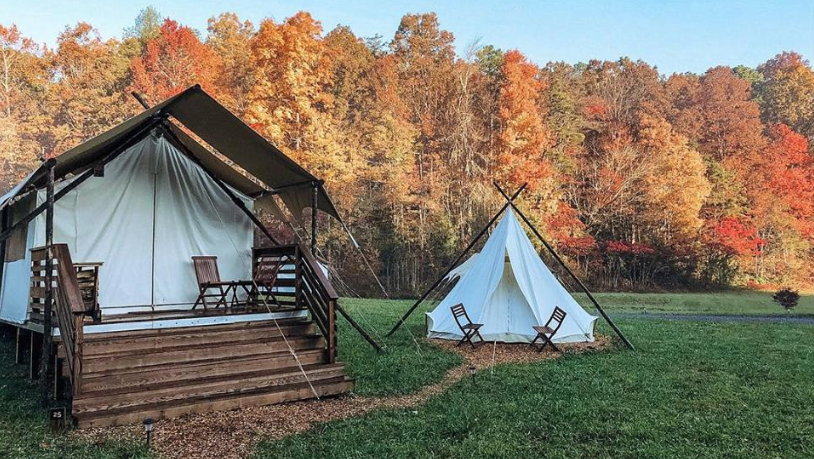 Under Canvas Glampsite Tent Smoky Mountains