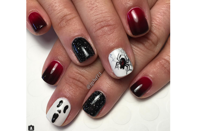 Halloween Nail Art: Ombre Nails