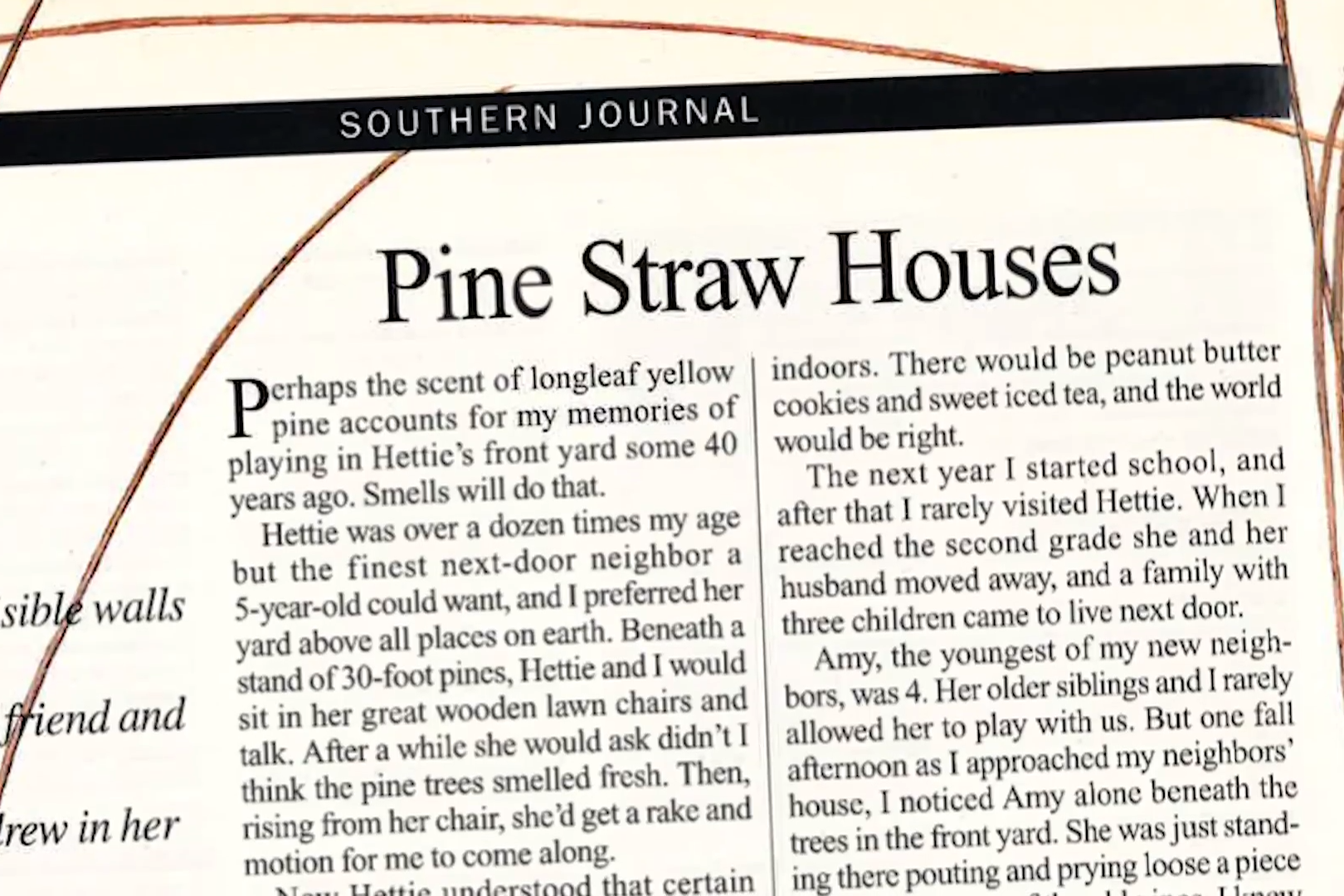Stories Of The South: Pine Straw Houses