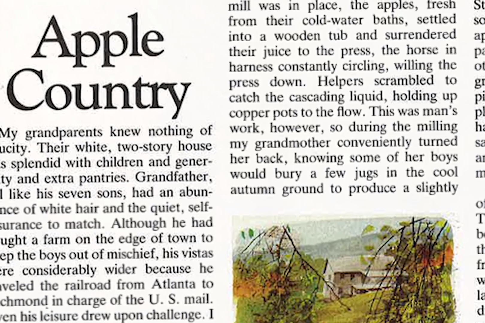 Stories Of The South: Apple Country