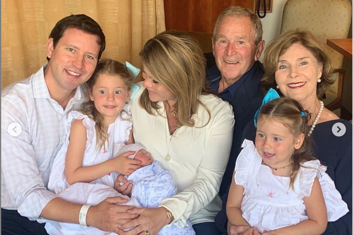 WATCH: Here's How George W. Bush Reacted to Jenna Bush Hager's Newborn Boy's Name
