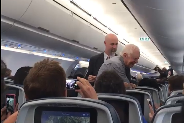 Jimmy Carter Shook The Hand of Every Passenger on His Flight