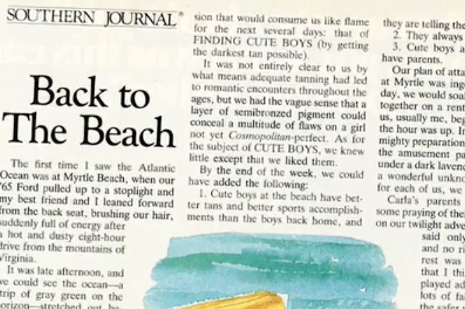 Stories Of The South: Back To The Beach