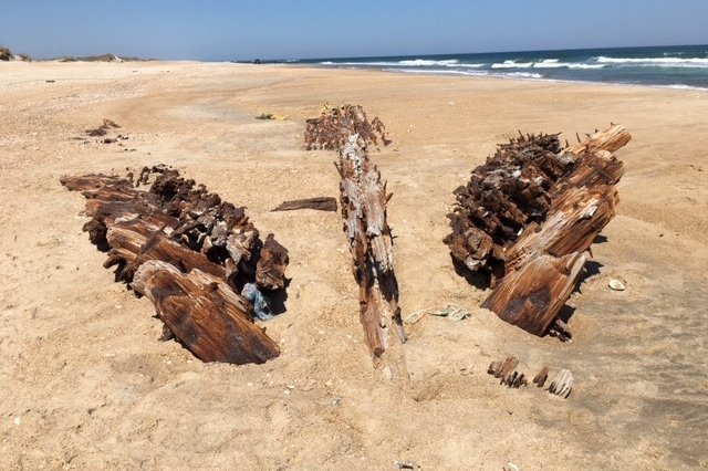 Spooky 86-Year-Old Shipwreck Exposed on Hatteras Island