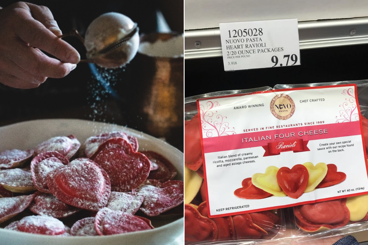 Costco Is Selling Heart-Shaped Ravioli for Valentine's Day