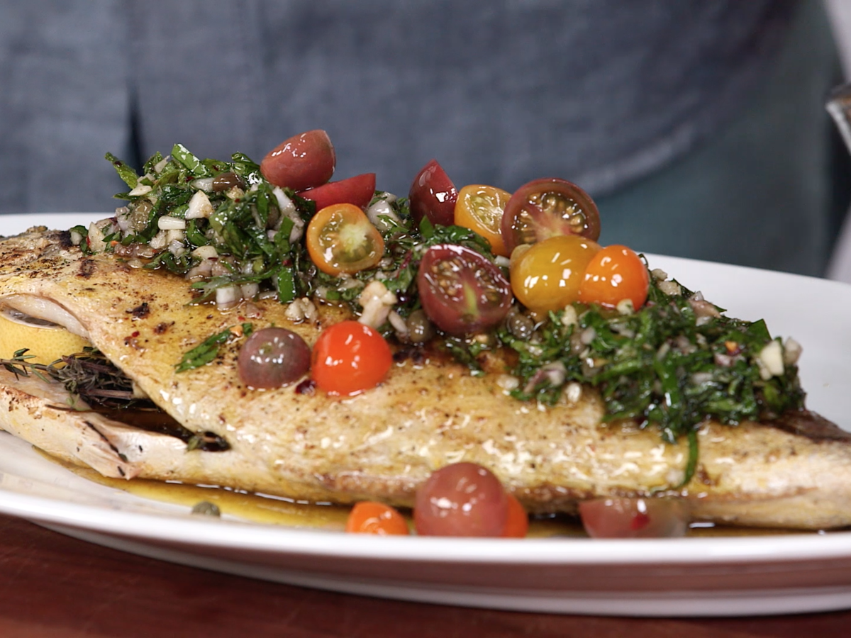 Johnny Fisher Grilled Pompano