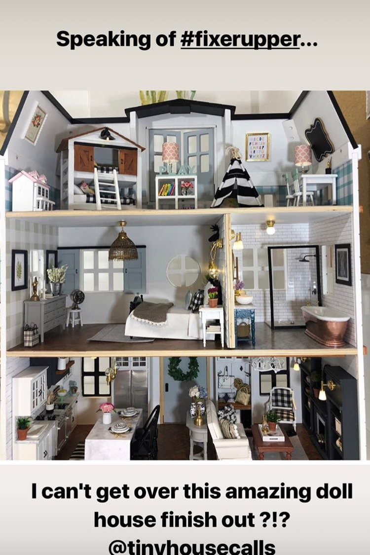 Joanna Gaines 'Can't Get Over' This Unbelievable Fixer Upper-Inspired Dollhouse