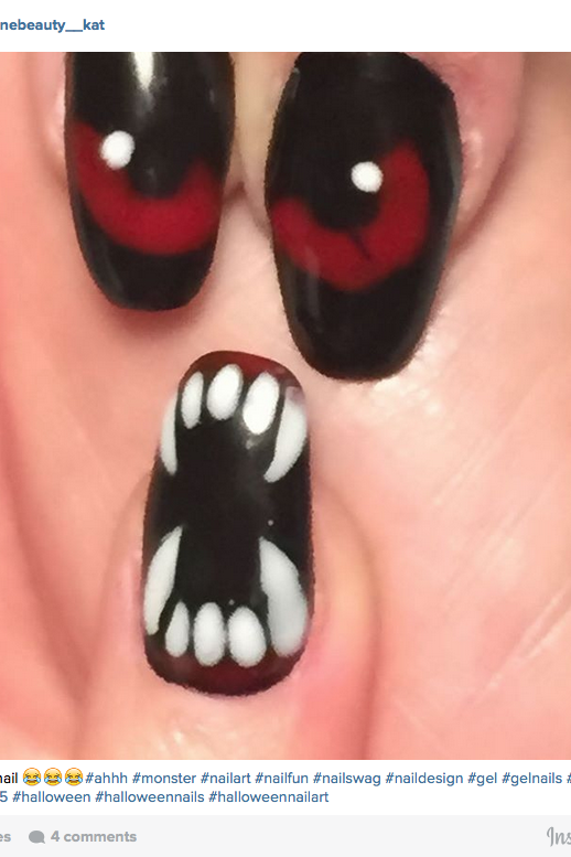 Halloween Nail Art: Monsters