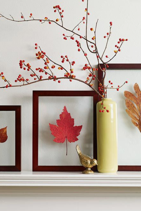 Leaf Pressed Mantel