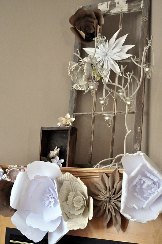 Paper Flower Mantel