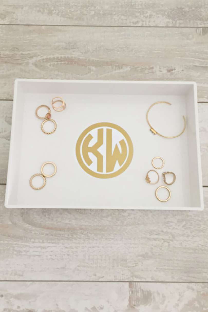 Monogrammed Jewelry Tray
