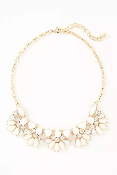 Floral Cluster Statement Necklace