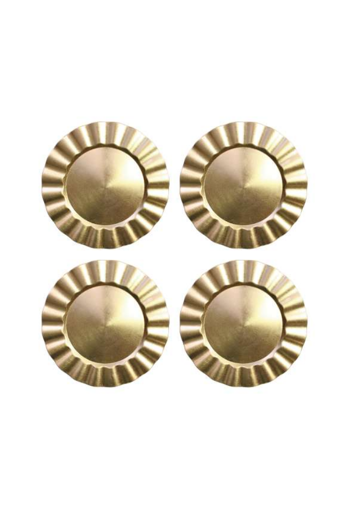 Round Ruffled Charger Plates, Set of 4
