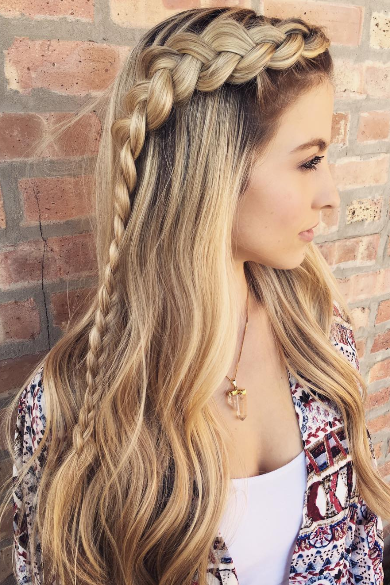 Half-Up Double Dutch Braids