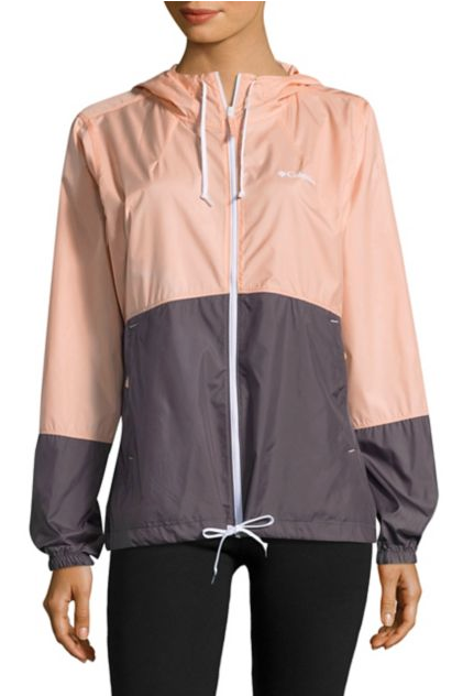 Columbia Hooded Zip-Front Windbreaker