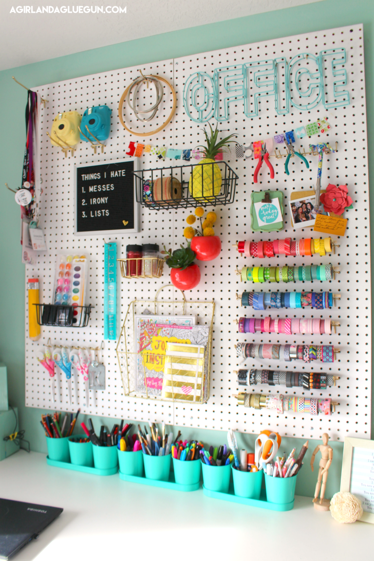 Colorful Pegboard Wall