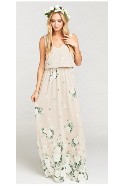 Kendall Maxi Dress In Bouquet Toss