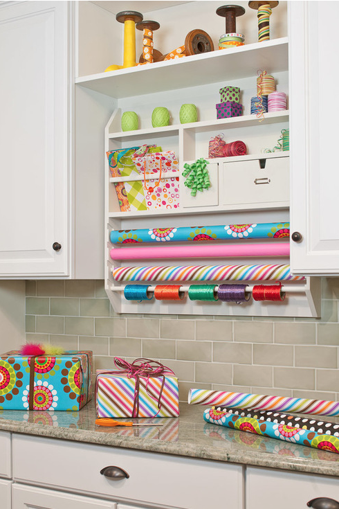 Tension Rod Wrapping Paper Holder