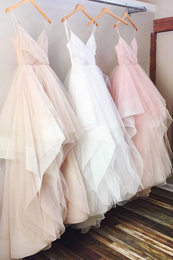 Blush wedding dress styles we love southern living princess tulle gown junglespirit Gallery
