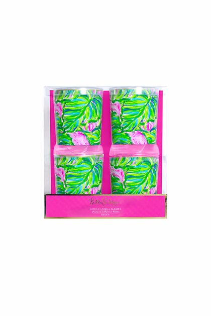 Great Gifts for Your Sorority Sisters: Lilly Pulitzer Printed Acrylic Glasses