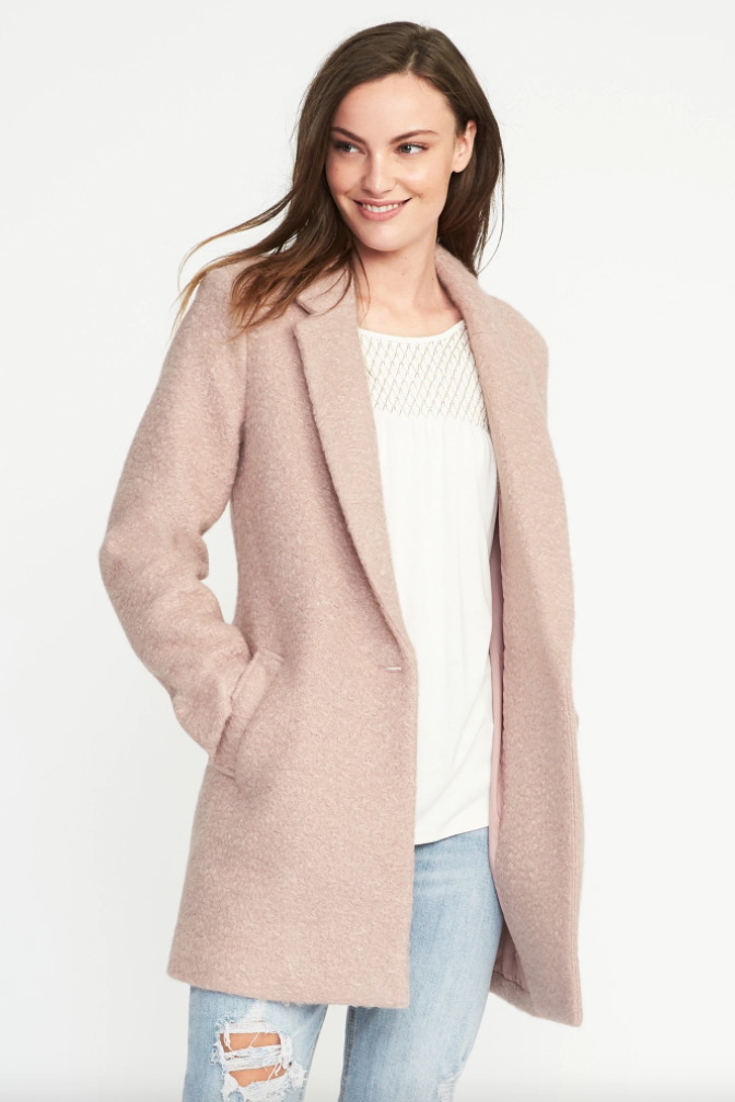 Old Navy Textured-Bouclé Everyday Coat