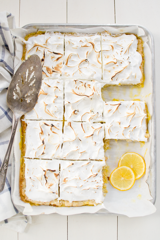 Lemon and Coconut Meringue Slab Pie