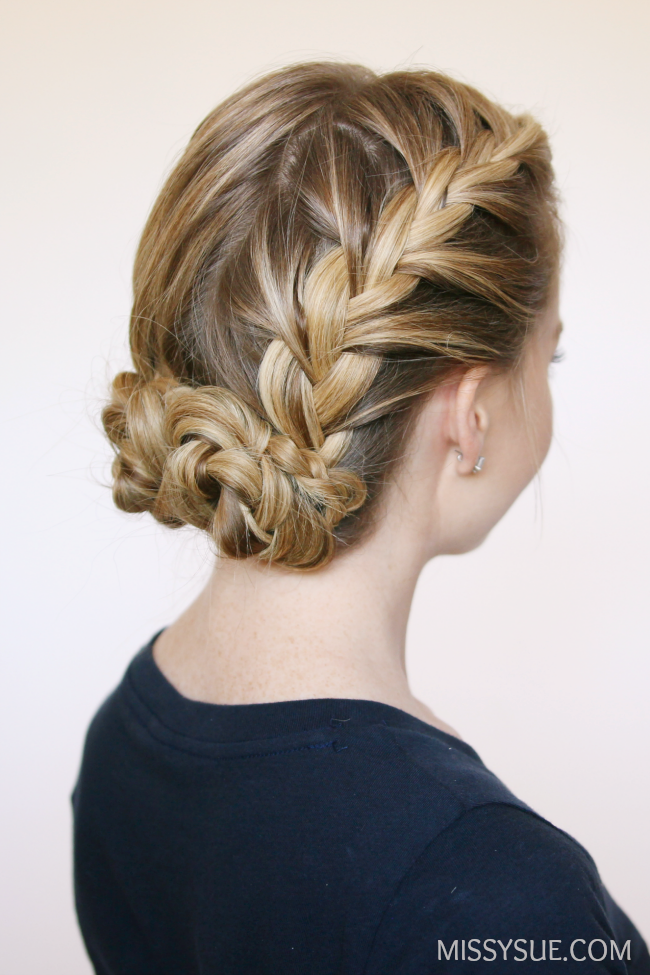 French Braid Double Buns