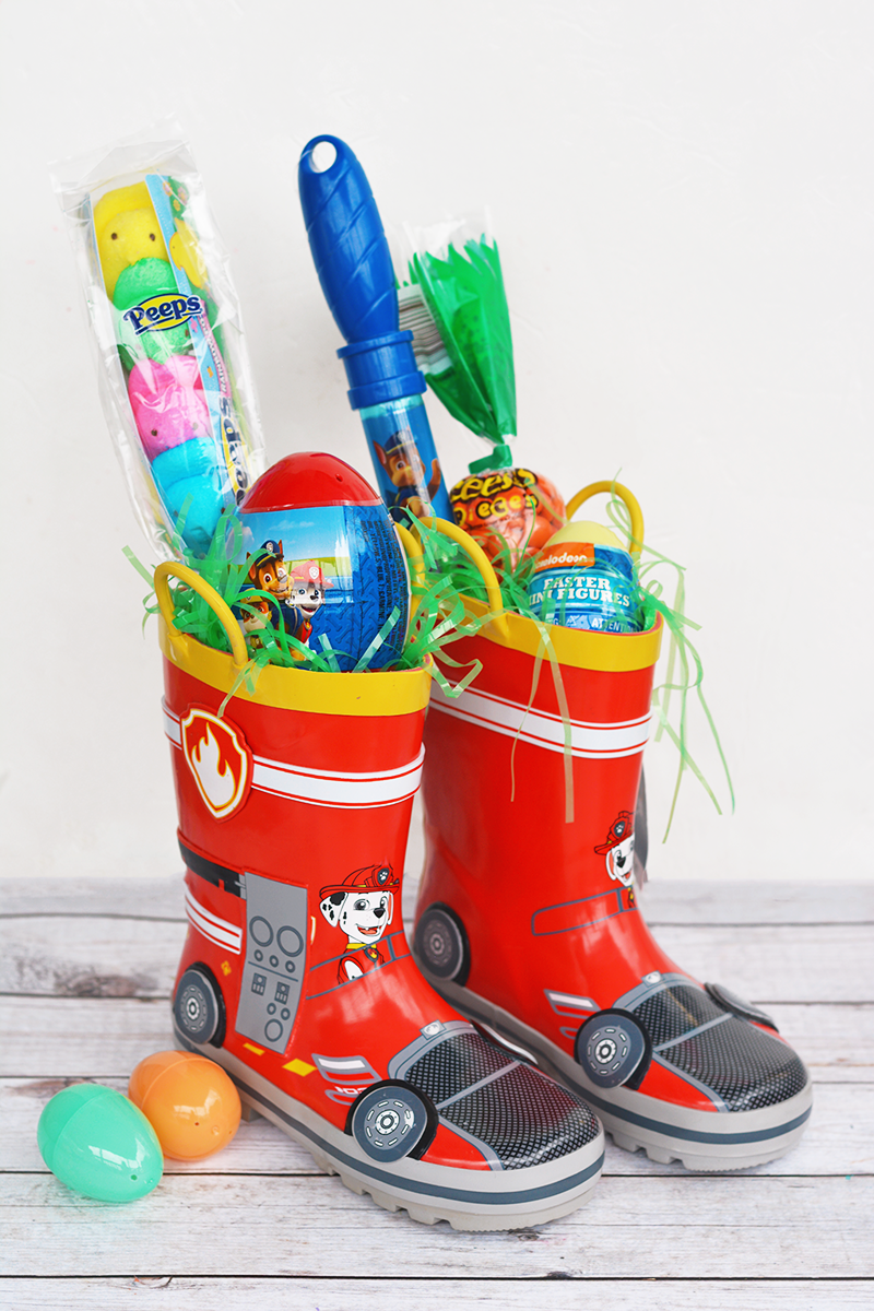 Easter basket ideas for kids teenagers and adults southern living rain boots easter basket negle Images