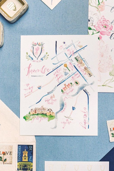 Wedding Map Knoxville