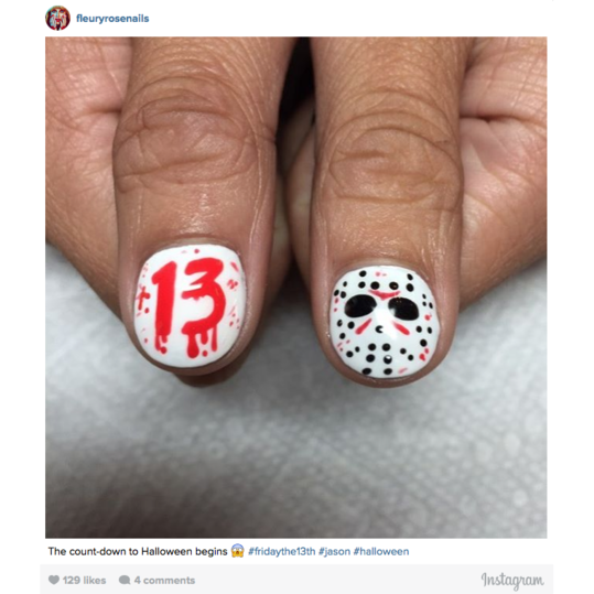 Halloween Nail Art: Friday the 13th