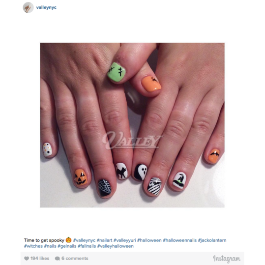Halloween Nail Art: Classic Monsters