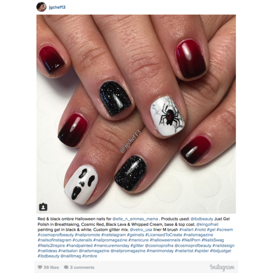 12 halloween nail art ideas southern living halloween nail art ombre nails prinsesfo Gallery